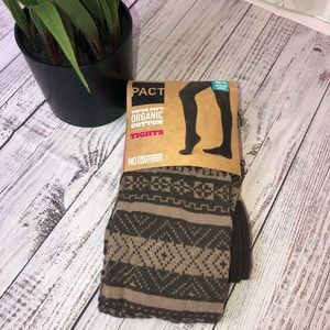 Accessories - NEW PACT Organic cotton brown tights. M/L